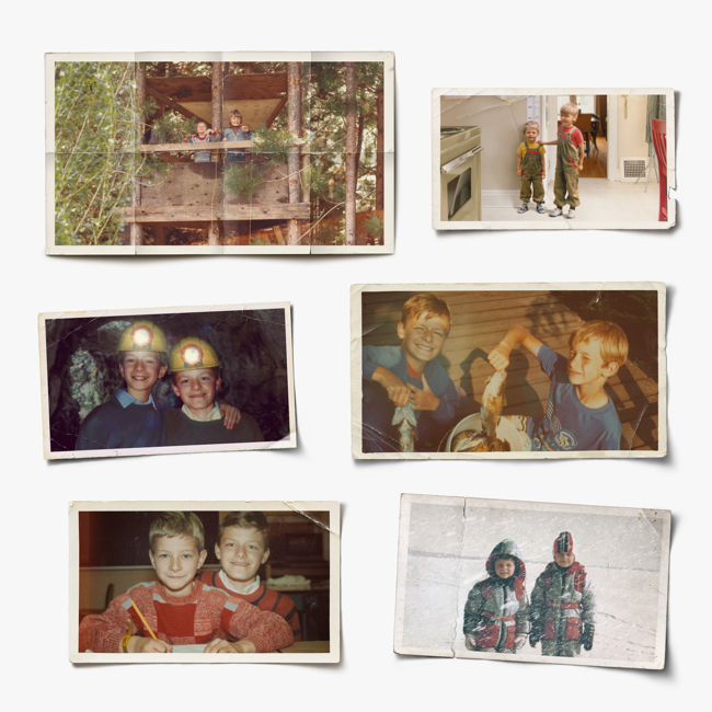 A grid of six polaroid photographs.