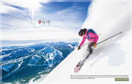 Montana Print Ad that reads Live the Moment