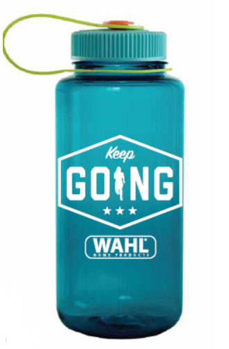 A Wahl-branded water bottle as part of a branded swag initiative to keep influencers engaged and increase conversions.